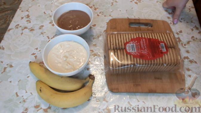 торт из печенья без выпечки пошаговый рецепт с фото со сгущенкой