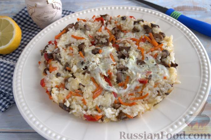 рецепты риса с овощами и грибами в мультиварке