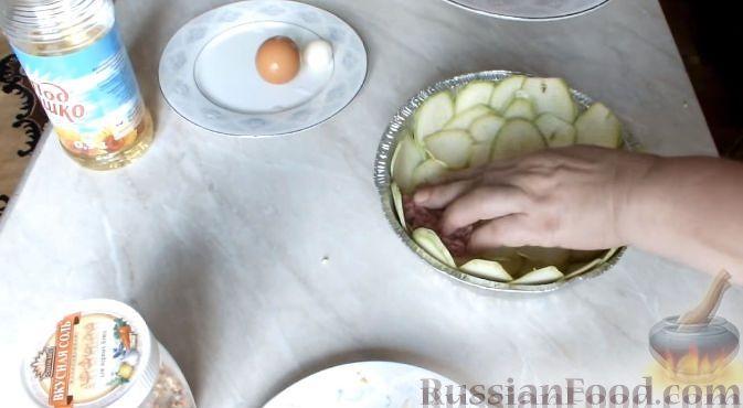 рецепты кабачок с фаршем слоями в духовке