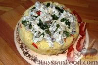 Фото к рецепту: Картофельная запеканка с сыром (в мультиварке)