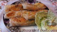 Фото к рецепту: Спринг-роллы с копченой курицей