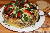 Фото к рецепту: Картофельная запеканка с фаршем (в мультиварке)