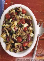 Фото к рецепту: Салат из овощей, жаренных на гриле