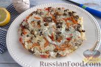 Фото к рецепту: Рисовая запеканка с овощами и лесными грибами  (в мультиварке)
