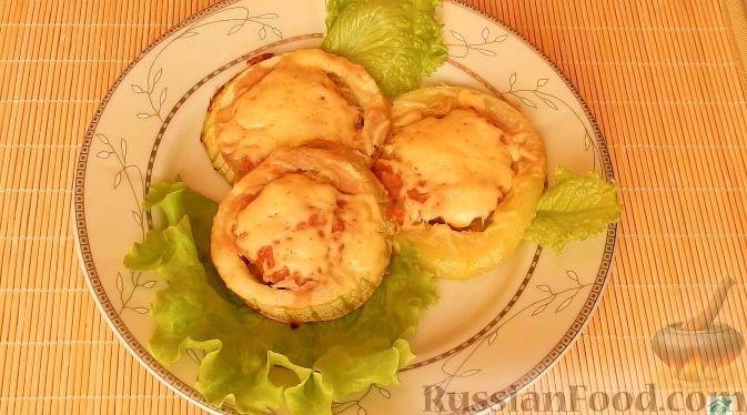 рецепт фаршированные кабачки с фаршем запеченные в духовке рецепт