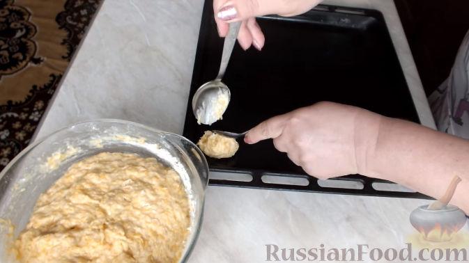 Фото приготовления рецепта: Тыквенное печенье с курагой - шаг №6