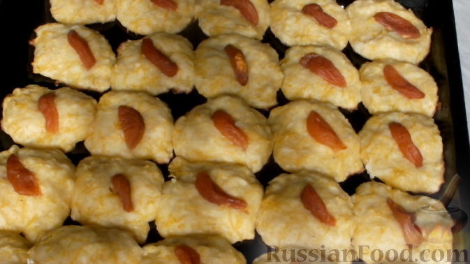 Фото приготовления рецепта: Тыквенное печенье с курагой - шаг №8