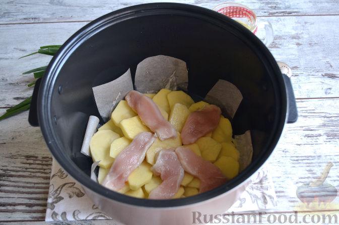 рецепты для мультиварки картошка с курицей и сыром