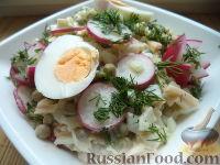 Фото к рецепту: Салат из сыра, яиц и редиса