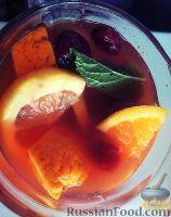 Фото к рецепту: Холодный мятный чай с цитрусами