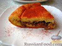 Фото к рецепту: Закусочный пирог с куриной печенью