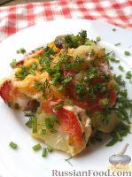 Фото к рецепту: Мясо с овощами (в духовке)
