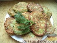 """Фото к рецепту: Пышные кабачковые оладьи  """"Весенние"""""""