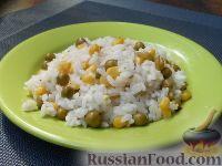 Фото к рецепту: Рис с кукурузой и зеленым горошком