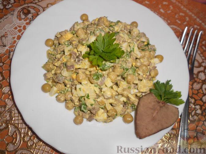 рецепт салата с печенью говяжьей