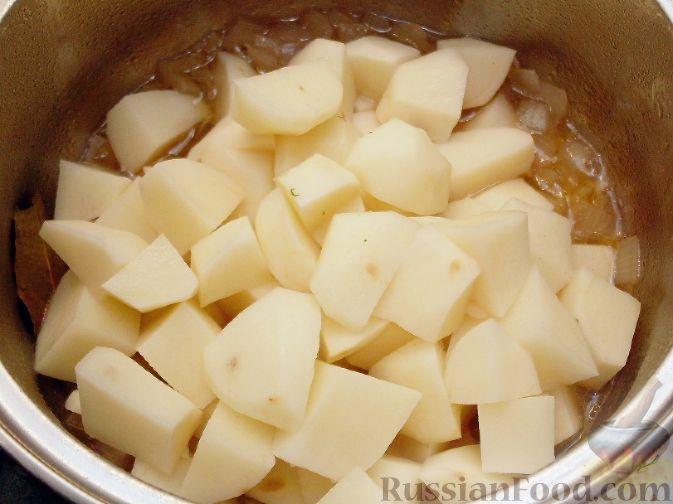 картофель на гарнир рецепты тушеный