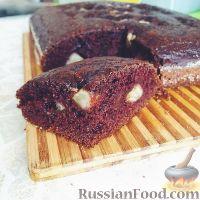 Фото к рецепту: Шоколадный пирог с бананами