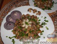Фото к рецепту: Тушеные грибы с соевым соусом и чесноком