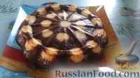 Фото к рецепту: Шоколадный пирог с творожными шариками
