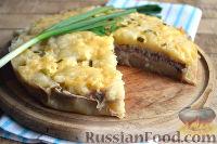 Фото к рецепту: Мясная запеканка с картофельным пюре (в мультиварке)
