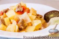 """Фото к рецепту: Овощное рагу """"Сочное"""" со свининой"""