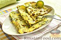 Фото к рецепту: Закуска из кабачков, яиц и зеленого горошка