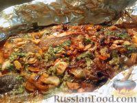 Фото к рецепту: Рыба, запеченная в томатном соусе