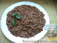 Фото к рецепту: Чечевица с мясным фаршем