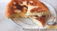 Фото к рецепту: Дрожжевой пирог с сыром (на сковороде)