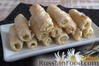 Фото к рецепту: Песочные трубочки с ревенем и корицей