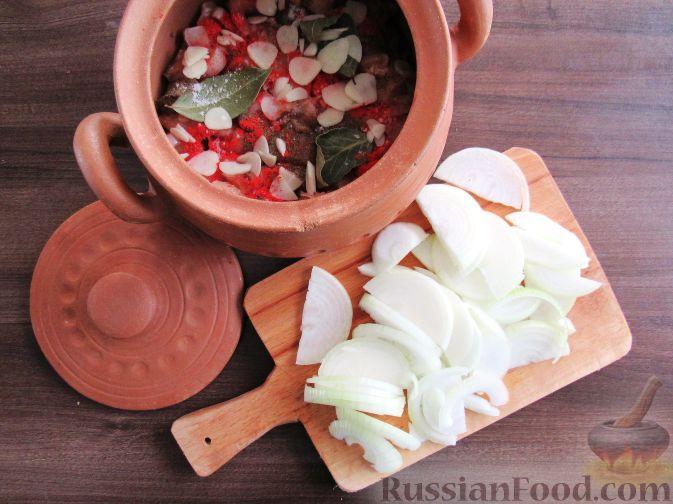 Фото приготовления рецепта: Тыквенный манник - шаг №5