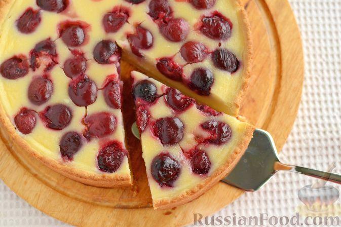 Фото приготовления рецепта: Черешневый тарт - шаг №8