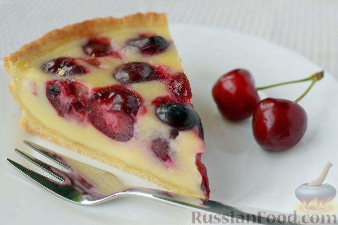 Фото приготовления рецепта: Черешневый тарт - шаг №9