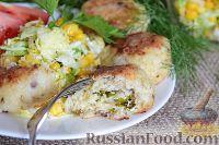 Фото к рецепту: Зразы рыбные с сыром и яйцом