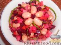 Фото к рецепту: Винегрет с фасолью