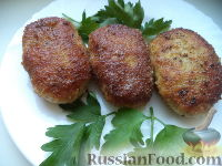 Фото к рецепту: Котлеты рубленые из кур (Пожарские)