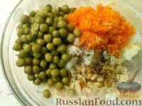 Фото приготовления рецепта: Постные овощные котлеты с зеленым горошком - шаг №4