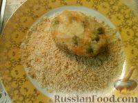 Фото приготовления рецепта: Постные овощные котлеты с зеленым горошком - шаг №6