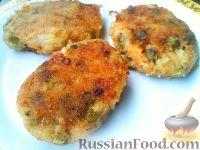 Фото приготовления рецепта: Постные овощные котлеты с зеленым горошком - шаг №9