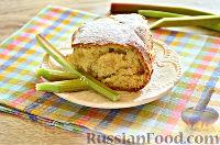 Фото к рецепту: Ванильно-кокосовый кекс с ревенем