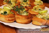 Фото к рецепту: Волованы с кабачками