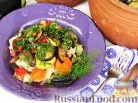 Фото к рецепту: Жаркое с баклажанами (в горшочке)
