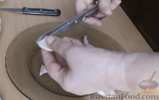 """Фото приготовления рецепта: Отрывной пирог """"Яблочные рожки"""" - шаг №4"""