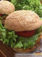 "Фото к рецепту: Быстрый бутерброд ""а-ля бургер"""