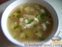 Фото к рецепту: Куриный суп с цветной капустой и гречкой