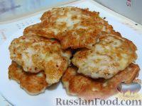 Фото к рецепту: Куриные оладьи из рубленого филе
