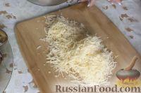 Фото приготовления рецепта: Рулетики из баклажанов с сырной начинкой - шаг №7