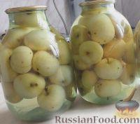 яблочный компот на зиму из целых яблок