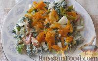 Фото к рецепту: Салат с крапивой, курицей, овощами и яйцами