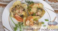 Фото к рецепту: Корзинки из картофеля с грибами